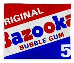 Bazooka Bubble Gum  Fleece Blanket