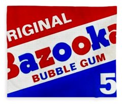 Bazooka Bubble Gum  Fleece Blanket