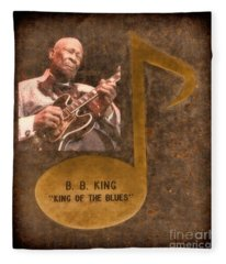 Bb King Note Fleece Blanket