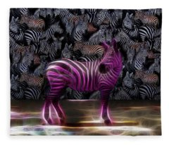 Be Courageous - Be Different - Zebra Fleece Blanket