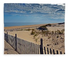 Beach At Cape Henlopen Fleece Blanket