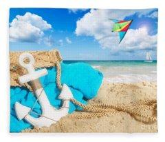 Beach Bag Fleece Blanket