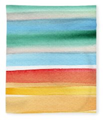 Abstract Landscape Fleece Blankets