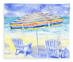 Beach Chairs Fleece Blanket