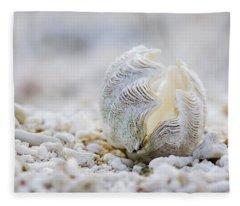 Beach Clam Fleece Blanket