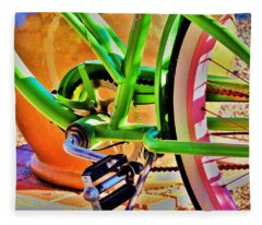 Beach Cruiser Fleece Blanket