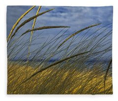 Beach Grass On A Sand Dune At Glen Arbor Michigan Fleece Blanket