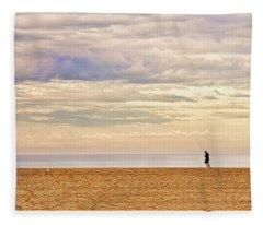 Beach Jogger Fleece Blanket