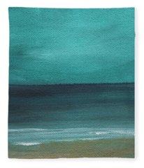 Beach Morning- Abstract Landscape Fleece Blanket