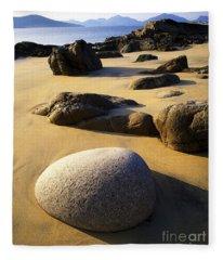 Beach Of Gold Fleece Blanket