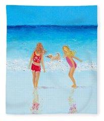 Beach Painting Beach Play Fleece Blanket