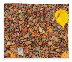 Beach Pebbles Of Montana Fleece Blanket