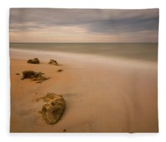 Beach Rocks Fleece Blanket