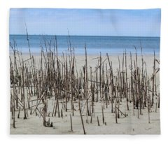 Beach Scene Fleece Blanket