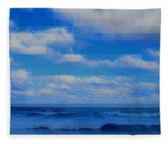 Beach Through Artificial Eyes Fleece Blanket