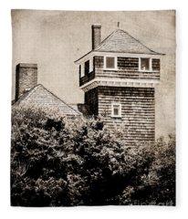Beach Tower Lookout Fleece Blanket