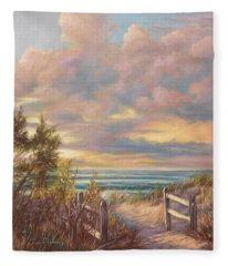 Beach Walk Fleece Blanket