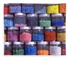 Beads Abstract  Fleece Blanket