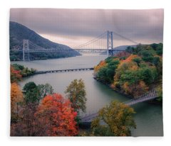 Bear Mountain Bridge Fleece Blanket