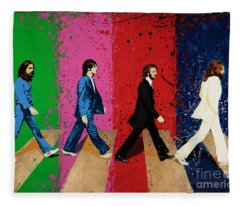 Beatles Crossing Fleece Blanket