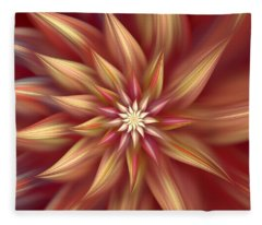 Beautiful Dahlia Abstract Fleece Blanket
