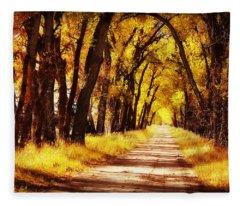 Beautiful Fall Day In Nebraska Fleece Blanket