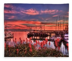 Beautiful Harbor Fleece Blanket