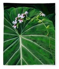 Beautiful Ivory Veins Of A Philodendron Fleece Blanket