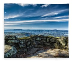 Beautiful View Of Mountains And Sky Fleece Blanket