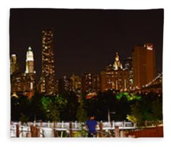 Beauty From Brooklyn Bridge Park Fleece Blanket