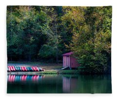 Beavers Bend Reflection Fleece Blanket