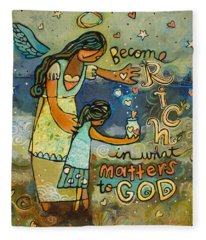 Become Rich In What Matters To God Fleece Blanket