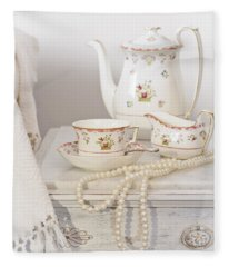 Bedside Table For Tea Fleece Blanket