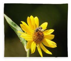 Bee Flower Fleece Blanket