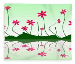 Bee Flowers Fleece Blanket