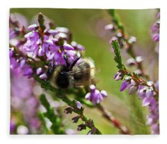 Bee On Heather Fleece Blanket
