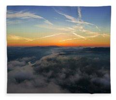 Before Sunrise On The Lilienstein Fleece Blanket