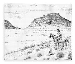 Open Prairie Overlook Fleece Blanket