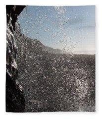 Behind The Waterfall Fleece Blanket