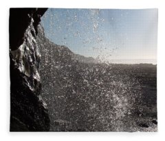 Behind The Waterfall Fleece Blanket