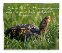Behold The Turtle Fleece Blanket