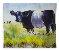 Belted Galloway Cow Fleece Blanket