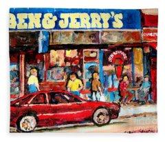 Ben And Jerrys Ice Cream Parlor Fleece Blanket