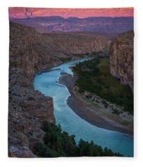 Bend In The Rio Grande Fleece Blanket