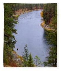 Bend In The River Fleece Blanket
