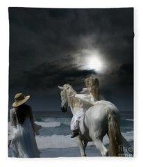 Beneath The Illusion In Colour Fleece Blanket
