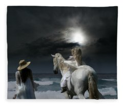 Beneath The Illusion In Colour Fleece Blanket