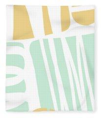 Bento 1- Abstract Shape Painting Fleece Blanket