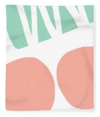 Bento 2- Abstract Shapes Art Fleece Blanket
