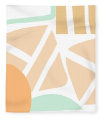 Bento 3- Abstract Shapes Art Fleece Blanket